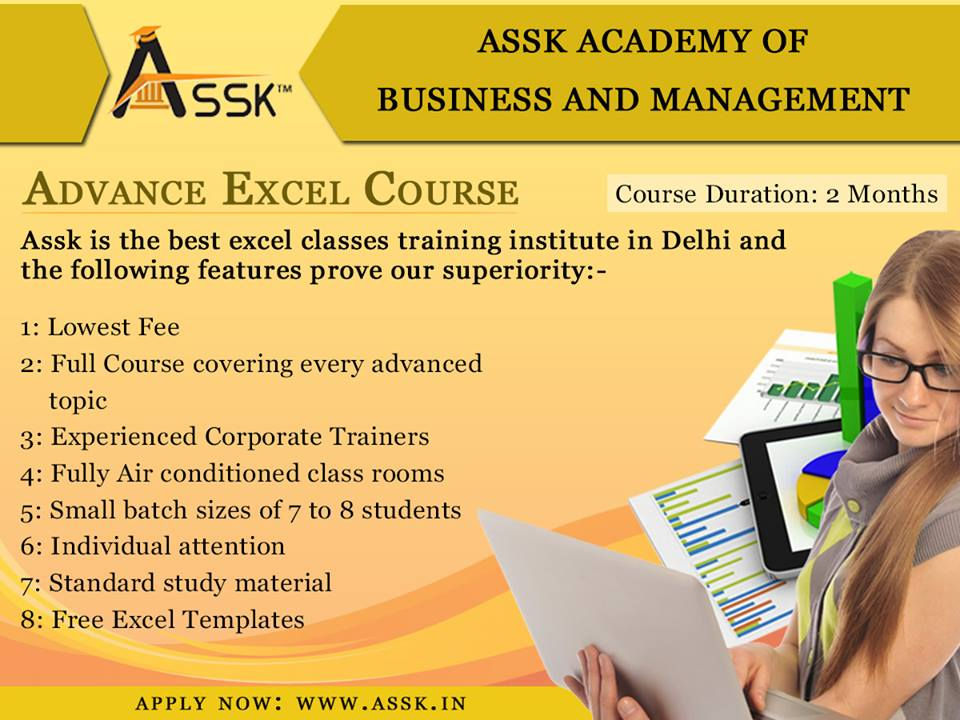 excel training institutes in Delhi
