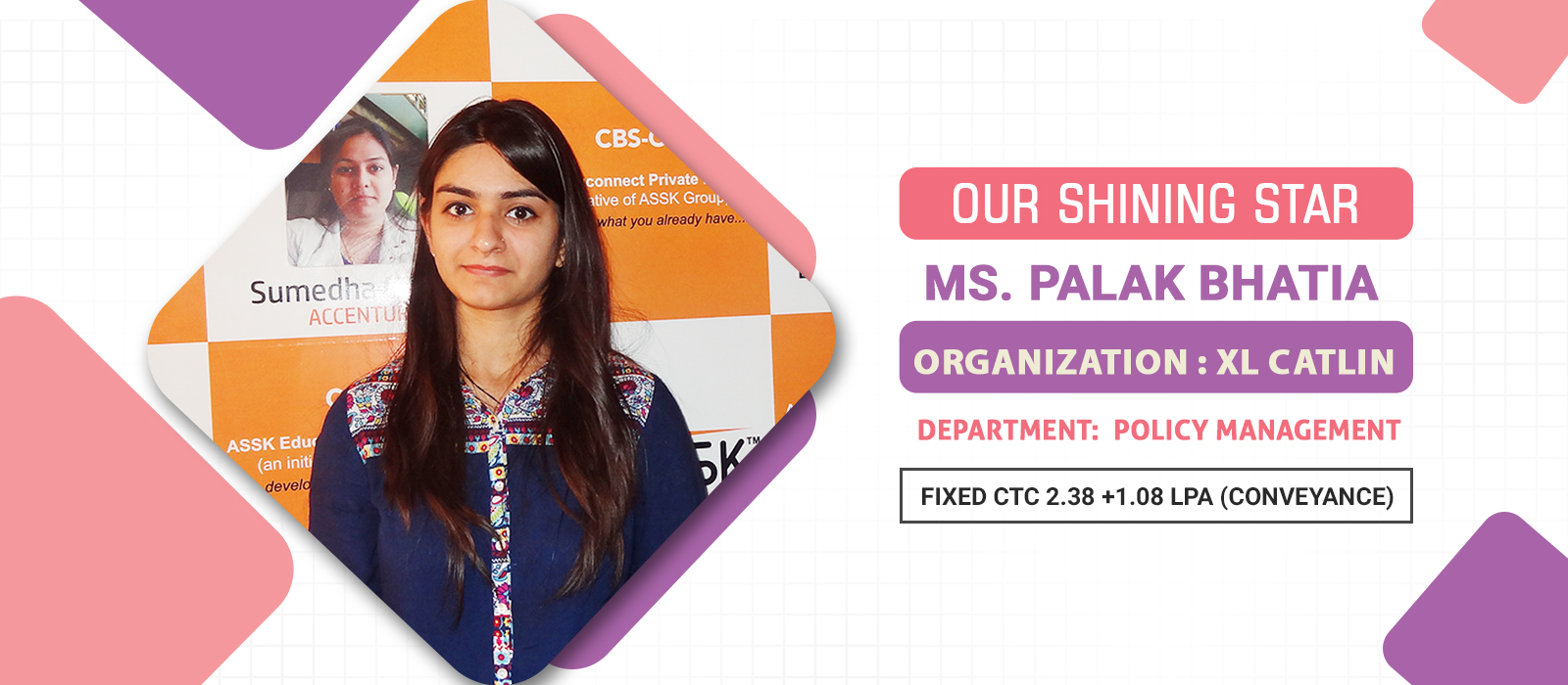 Palak Bhatia Placement Banner